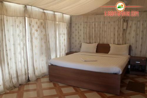 Hilltop tent interior